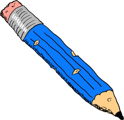 Basil's blue pencil